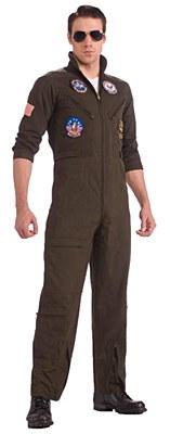 Top Gun Flight Jumpsuit Adult Plus Costume
