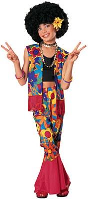 Flower Power Girl Child Costume