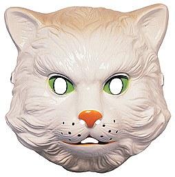 Plastic White Cat Mask