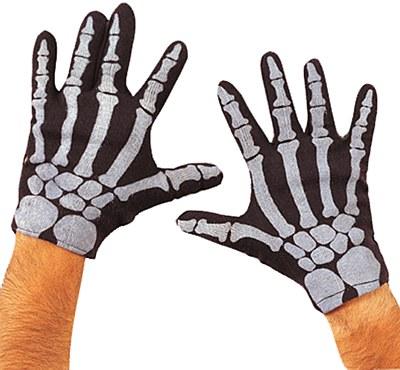 Nylon Adult Skeleton Gloves