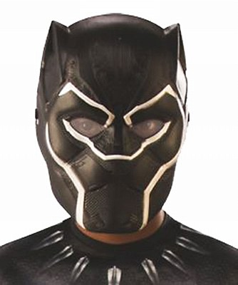 Black Panther Plastic Child Mask