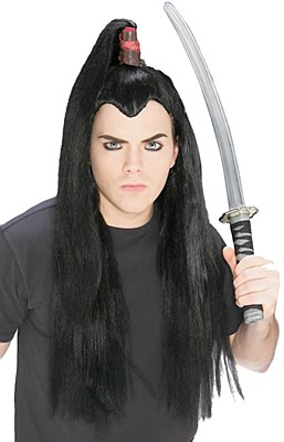 Asian Samurai Man Wig