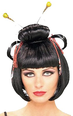 Asian Lady Pins Wig