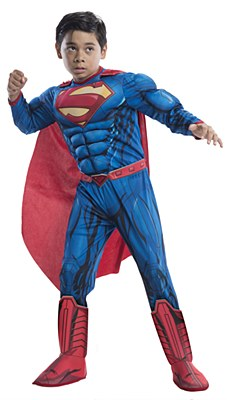 DC Comics Superman Deluxe Muscle Child Costume