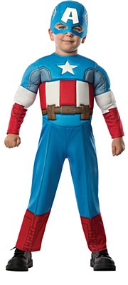 Captain America Comic Muscle Toddler Costume