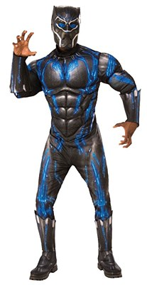 Black Panther Battle Suit Deluxe Muscle Adult Costume