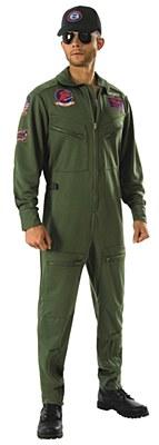 Top Gun Flight Jumpsuit Adult Costume
