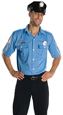 Police Man Adult Costume Kit