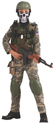 Camo Army Trooper Child Costume