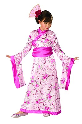Asian Princess Geisha Child Costume
