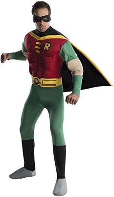 Teen Titans Robin Muscle Adult Costume