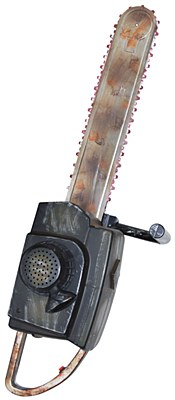 Animated And Sound Chainsaw Prop