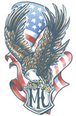 MC Eagle USA Flag Tattoo