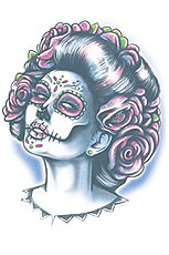 Day Of The Dead Senora Muerte Tattoo