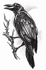 Goth Raven / Crow Tattoo
