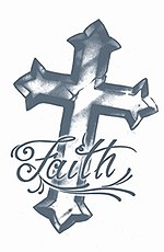 Prison Faith Cross Tattoo