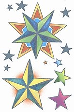 Vintage Nautical Stars Tattoo