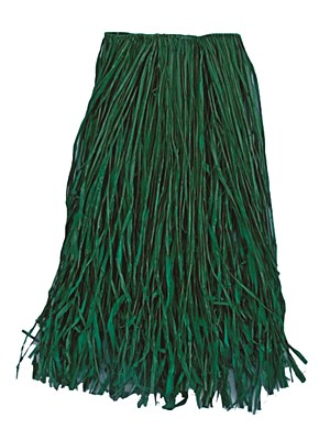 "Green Raffia 31"" x 28"" Adult Grass Hula Skirt"