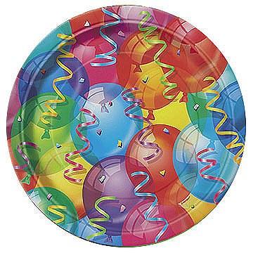 Brilliant Balloon Party Plates