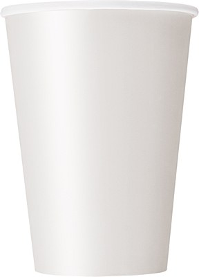 White 12oz Paper Cups - 10 Count