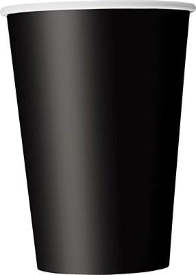 Black 12oz Paper Cups - 10 Count