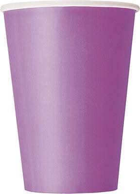 Purple 12oz Paper Cups - 10 Count