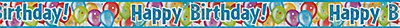 Happy Birthday Foil Banner