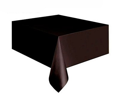 "Plastic Table Cover - 54""x108"" - Black"
