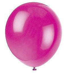 Solid Color Latex Magenta Balloon - Single