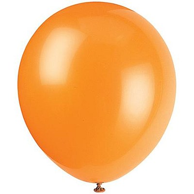 Solid Color Latex Orange Balloons - 10 Pack