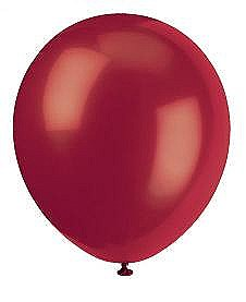 Solid Color Latex Burgundy Balloons - 10 Pack