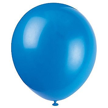 Solid Color Latex Twilight Blue Balloons - 10 Pack