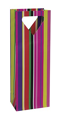 Colorful Stripes Wine Gift Bag