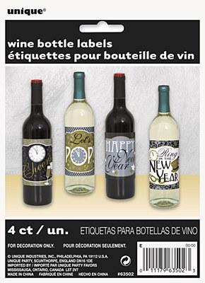 New Year Jazzy Spirits Bottle Labels