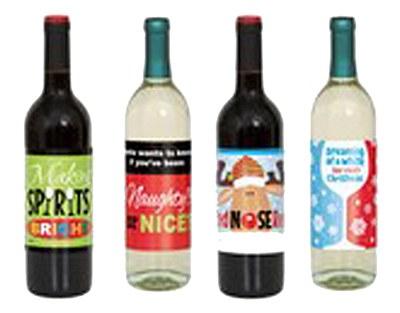 Christmas Spirit Bottle Labels