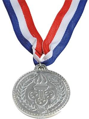 Award Silver Medal And Ribbon