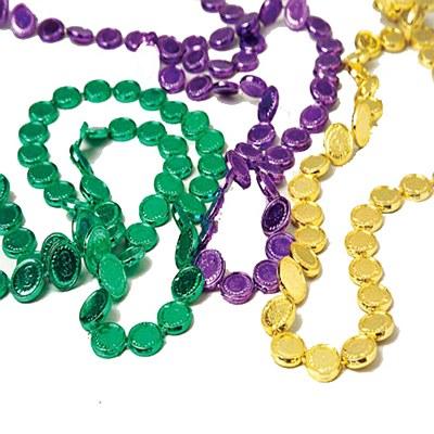 Mardi Gras Mini Coin Beads