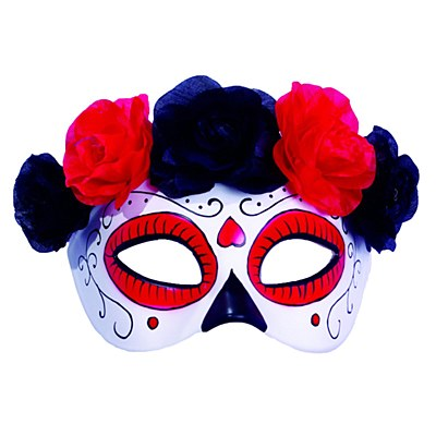 Day Of The Dead Flower Crown Mask