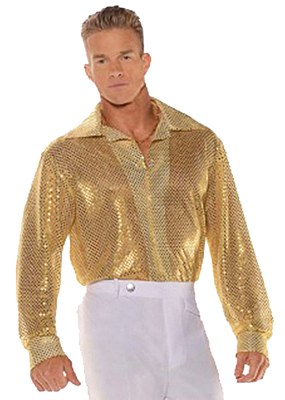 Disco Sequin Gold Adult Shirt