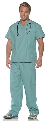 Doctor Surgery Green Scrubs Adult Costume