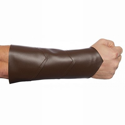 Faux Leather Brown Wrist Guard