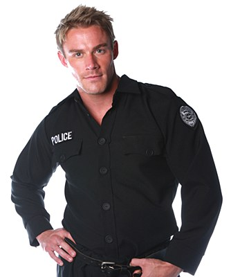 Police Shirt Adult Long Sleeve