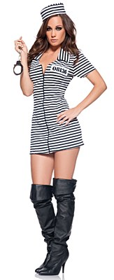 Miss Behaved Convict Adult Costume