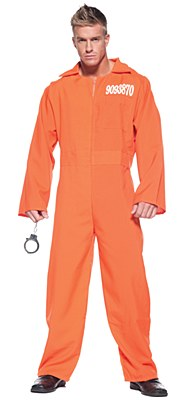 Prisoner Orange Jumpsuit Adult Costume