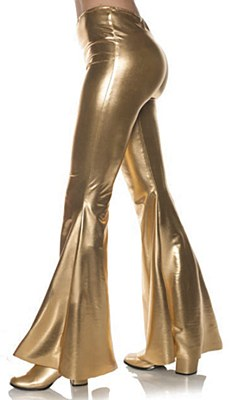 70's Disco Gold Metallic Bell Bottom Pants