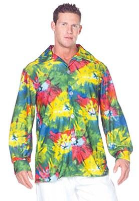 60's Tie Dye Men's Button Down Shirt
