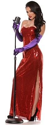Bombshell Jessica Rabbit Sequin Dress