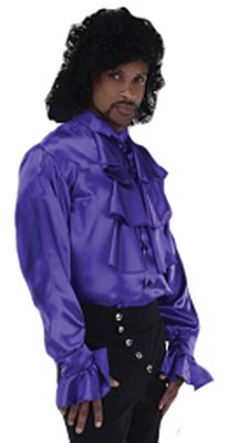 Pop Star Prince Ruffled Purple Shirt