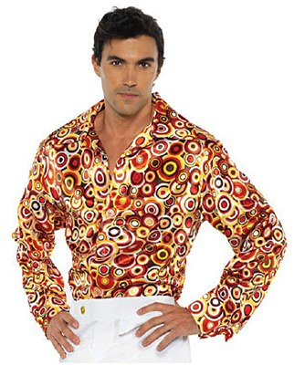 70's Circles Men's Button Down Disco Shirt
