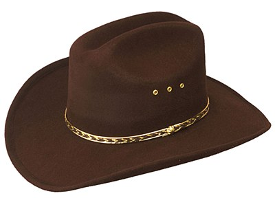 Cattleman Adult Brown Cowboy Hat